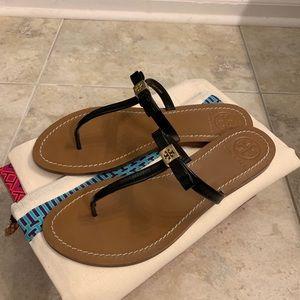 Tory Burch black Leighanne thong sandal